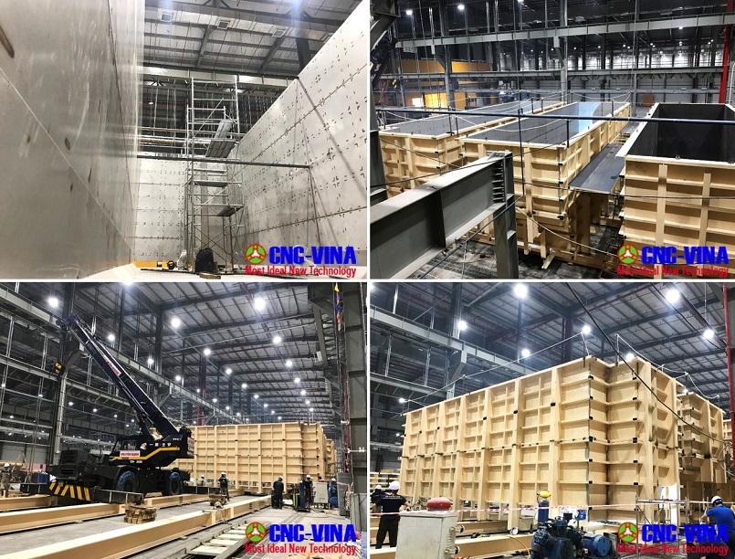 Che tao thi cong tank be day chuyen son - tank fabrication CNCVINA